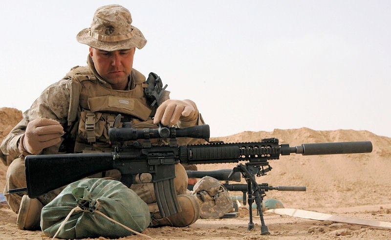 Mk12 In Combat Pictures to Pin on Pinterest - PinsDaddy M110 Sniper Rifle Suppressed